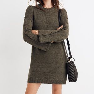 NWOT Madewell Donegal Button-Sleeve Sweater-Dress